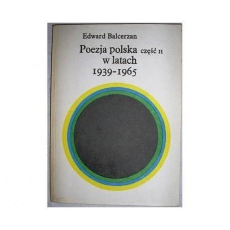 POEZJA POLSKA W LATACH 1939-1965 CZ. I i II