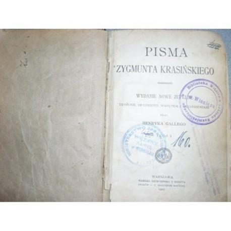 PISMA ZYGMUNTA KRASINSKIEGO